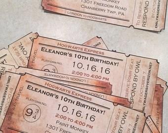 Hogwarts invitation | Etsy