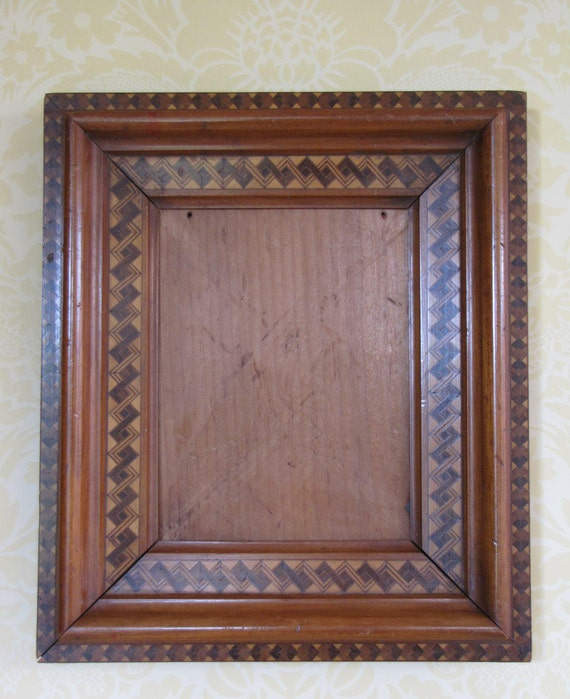 Antique Marquetry Frame/Antique Inlay Frame/ Old Wooden Frames/ Farmhouse Frames