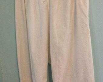 Antique Victorian/Edwardian ladies bloomers pantaloons with ruffled tucking hems
