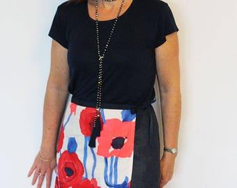 Ruby wrap skirt, wrap skirt pattern, womens pattern, womens skirt pdf, womens pdf pattern, wrap skirt, skirt pattern, womens skirt pattern