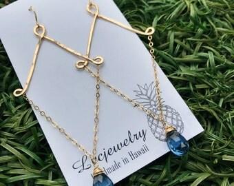 Alex earrings in London Blue