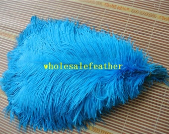 100 pcs 18-20inch turquoise ostrich feather plumes for wedding centerpieces wedding decor party event supply