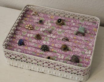 Ring Display Stand | Ring Organizer Tray | Jewelry Display | Jewelry Organizer Tray | Jewelry Holder | Shabby Chic Ring Display | Ring Tray