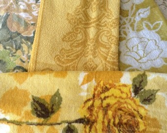 Yellow Vintage Towels