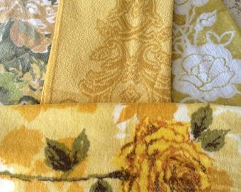 Yellow Vintage Towels