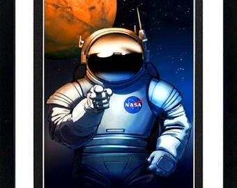 NASA Poster We Need You! Wanted Framed Display Various Sizes