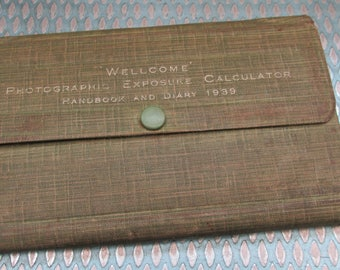 Vintage 1939 Handwritten Pocket Diary in Wallet ~ Lovely Piece of Social History - Yorkshire