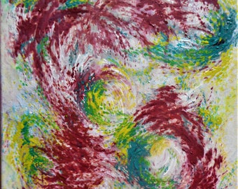 "Original Abstract Oil Painting by Nalan Laluk: ""Whirlwind"""