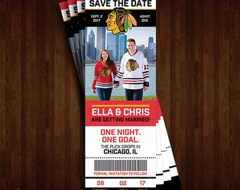 Chicago Blackhawks Save the Date Ticket