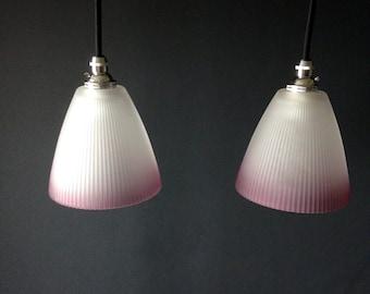 mid century lighting. vintage glass pendant lights fluted retrolighting interior design mid century lighting