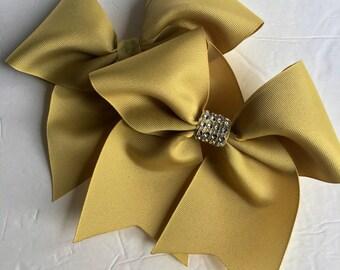 Gold Softball Bows/ Softball Bows/Gold Cheer Bows/Gold Soccer Bows/Gold Hair Bows/Solid Color Gold Bows