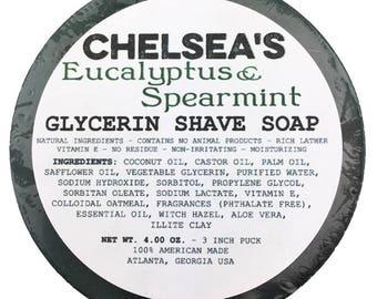Chelsea's Eucalyptus & Spearmint Shaving Soap