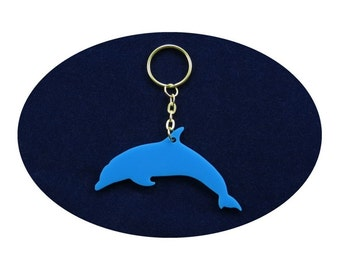 Blue Dolphin Lucky Charm Bag Dangler Key Ring Party Favour Favor