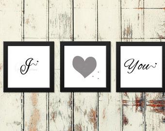 I love you printable art, wall art, wall hanger, digital print