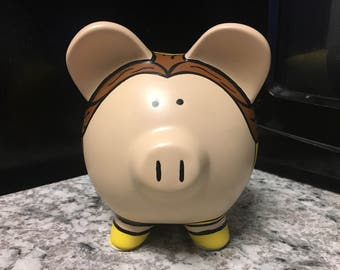READY TO SHIP Beauty and the Beast Belle Princess Medium Piggy Bank