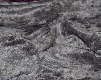 """Charcoal Gray Panne Crush Velvet Backdrop Apparel Stretch Fabric - By The Yard - 60"""""""
