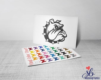 Bulldog Vinyl Decal Sticker