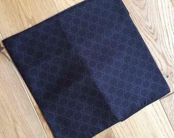 Vintage 100% silk twill scarf logos print. 65x65cm.
