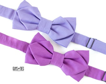 lavender bow tie, purple wedding bow tie, mix and match purple, pointed bow tie, bow ties for men, bright boys bow tie, self tie bow tie