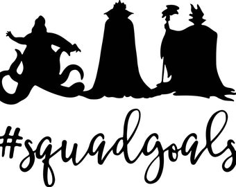 Villain Squad Car Decal, Wall Decal, Yeti Decal