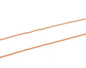 5 m chain ball balls 1.5 mm, Orange colour