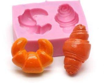 Miniature Croissants 2 silicone mold