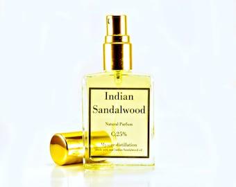 Authentic Indian Sandalwood Perfume, Real Sandalwood Cologne, Mysore Sandalwood Oil, Sandalwood Parfum, Indian Sandalwood Oil, 15ml spray