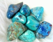Large Tumbled Chrysocolla Goddess Wise Woman Stone Clearing Divine Feminine Purpose Medicine Charged Blessed + Free eBook Guide & Pouch