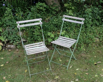Pair of french cafe chairs