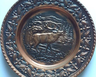 Decorative copper plate