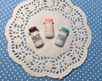 3pc milk cabochons