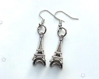 Eiffel tower earrings - paris earrings - sterling silver earrings - gift for her