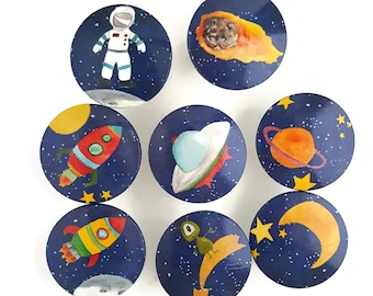 Galaxy Deep Space Set of 8 Knobs
