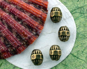 Antique Brass Beads, Brass Ox Beads, Lead Free Pewter Beads, Vintage Reproductions, Made in the USA  PB-048 AB