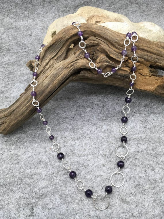 Handcrafted Sterling Silver and Amethyst