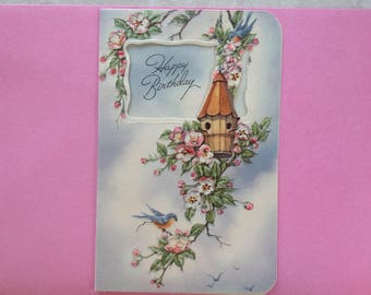 Vintage Happy Birthday card ( unused )