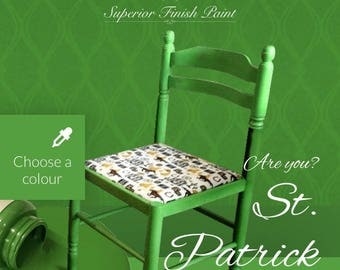 Chalk paint for furniture- 100ml Everlong St Partric green furniture paint - 100ml project pot