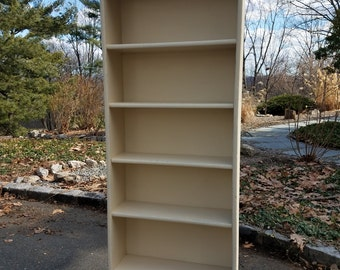 SOLD! Hand Painted Vintage Shabby Chic Bookcase - Local Pickup / Delivery Only