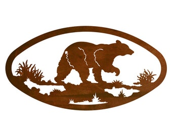 Grizzly Bear Rustic American Made Wallart