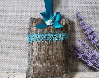 Lavender Bag Pure Open Weave Silk Filled With Yorkshires Finest Lavender Hanging Decoration 13cm x 9cm FREEPOST UK