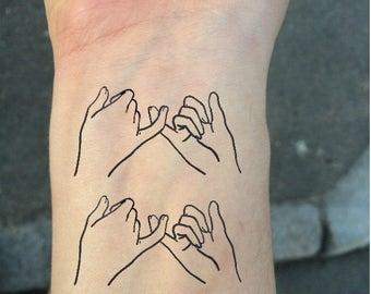 Finger tattoo etsy for Pinky finger tattoos