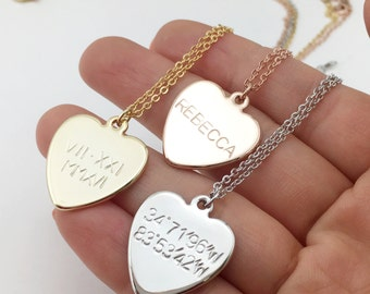 Heart Pendant Necklace, Heart Necklace for her, Gift for aunt, gift for girlfriend - RCHN *