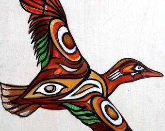 Cinnamon Teal Duck Original Painting