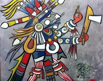 Tlahuizcalpantecuhtli- Lord of the Dawn Original Painting