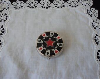 Collectable poker metal pocket ashtray (04537)