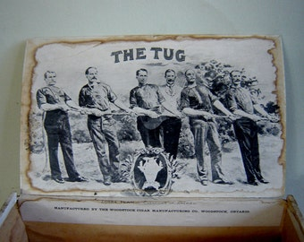 "Vintage Cigar Box ""The Tug"" 1883"