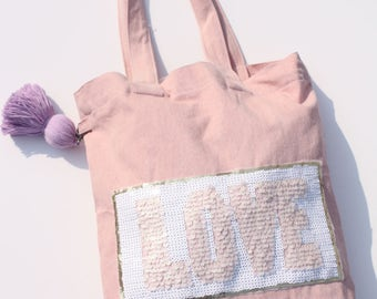 Shiny Love Pink Tote Bag