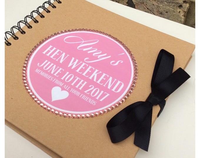 Personalised Scrapbook Hen Do | Weddings | Birthday scrapbook | Memories | Guest book | Journal for Bride's