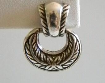 Brighton Silver Tone Door Knocker Pierced Earrings