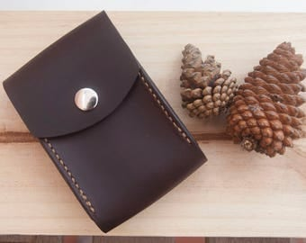 Cigarette leather case. Tobacco leather case. Tobacco leather pouch.